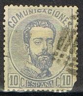 Sello 10 Centimos AMADEO, Variedad Impresion, Num 121 º - 1872-73 Reino: Amadeo I