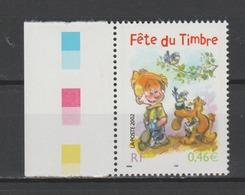 FRANCE / 2002 / Y&T N° 3467 ** : Fête Du Timbre (Boule & Bill) De Feuille BdF - Gomme D'origine Intacte - France