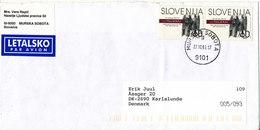 Slovenia Cover Sent Air Mail To Denmark Murska Sobota 27-10-1999 - Slovenia