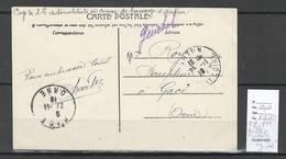 """France - Lettre FM - AUTUN - Griffe """" Guichet """" -1916 - En Violet - WW I"""