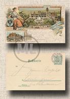 Privat-Ganzsache-Postkarte Kgl.Württ.Post 5 Pfennig (MiNr. 56), Gewerbe+Industrieausstellung 1897 - Heilbronn