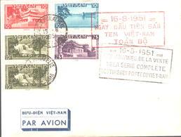 3 FDC Du 6 Juin 1951 Et Du 16 Aout 1951 - Vietnam