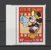 FRANCE / 2004 / Y&T N° 3641 ** : Fête Du Timbre (Disney / Mickey) De Feuille Avec Bord - Gomme D'origine Intacte - France
