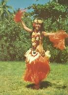 (POLYNESIE FRANCAISE  ) ( DANSEUSE DE TAHITI  )21X15  COLLECTION JEAN POUMEROL( FOLKLORE )( FEMME ) - Polynésie Française