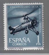 Autogire, Autogiro, Gyrocoptère, Juan De La Cierva Timbre ** Espagne - Hélicoptères