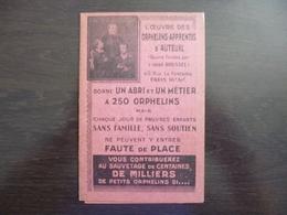 Oeuvre Des Orphelins Apprentis D'Auteuil. Carte De Don+ Carte Souvenir +pétale Ayant Touché Aux Reliques De Ste Thérèse. - Non Classificati