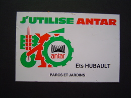 AUTOCOLLANT AUTOMOBILE Ancien : ANTAR AGRICOLE / PARCS & JARDINS ETS HUBAULT - Autocollants