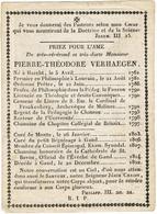 HAECHT - LEUVEN - MECHELEN - RONSE  - GENT - Doodsprentje Van PRIESTER VERHAEGEN PIERRE-THEODORE   + In 1822 - Images Religieuses