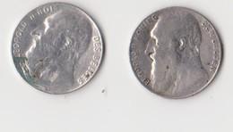 Leopold II, 2 X 50 Centimes, Nederlands En Franstalig, 1901! - 1865-1909: Leopold II