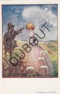 3 Postkaarten Fantasie - Illustrator Paul Hagemans - La Garçonne - La Femme Et Le Pantin - Les Femmes.. (N944b) - Illustrateurs & Photographes