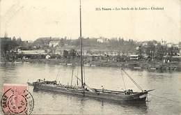- Dpts Div -ref-AL665- Indre Et Loire - Tours - Les Bords De Loire - Chaland - Chalands - Bateau - Bateaux - - Tours