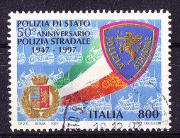 Italia 1997-Polizia Stradale  Usat Simile - 6. 1946-.. Republic