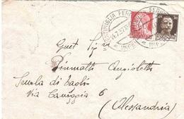 DA VENTIMIGLIA A ALESSANDRIA - Storia Postale