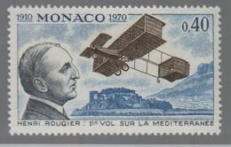 Henri Rougier 1° Vol Sur La Méditerranée  Timbre ** Monaco - Avions
