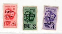 1944 -  FRATELLI BANDIERA OVERPRINTED ISTRA - NUOVI MNH** NO GUM - Croazia