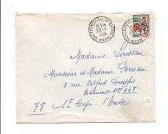 LETTRE DE CHATEAUNEUF VAL DE BARGIS NIEVRE 1968 - Storia Postale