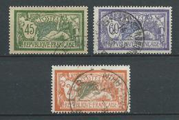FRANCE 1907 .  N°s 143 , 144 Et 145 . Oblitérés . - France