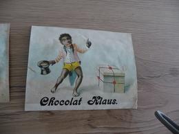 Chromo Ancien Publicitaire  Chocolat Klaus Noir Humour Anti Esclavage ? - Other