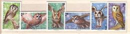 1992 BIRDS-Owls 6 V.-MNH  BULGARIA / Bulgarie - Bulgarije