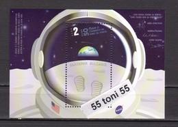 2019 SPACE 50 Years Since The MOON LANDING – S/S – MNH   Bulgaria / Bulgarie - Bulgaria