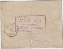 EAC FM Ossendrecht -> Belgium Army 1915 (2 Scans) - Postal History