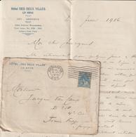 """EAC """"Hôtel Des Deux Villes"""" La Haye -> Belgium Army 1916 - Marcophilie"""