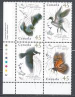 Canada 1995. Scott #1567a B.L. (MNH) Migratory Wildlife ** Complet Set - Neufs
