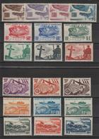 Saint Pierre Et Miquelon 1947 Série Courante 325-343 19 Val ** MNH - St.Pierre & Miquelon