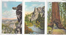 Petit Livre Avec 18 Photos Du Park Yosemite. (Voir Commentaires) - Cartes