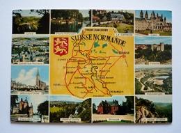 Cpsm Grand Format -  SUISSE NORMANDE - Géographie Et Localités - Landkarten