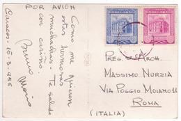 °°° 13733 - VENEZUELA - CARACAS - AVENIDA BOLIVAR - 1956 With Stamps °°° - Venezuela