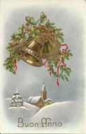 """Cartolina """"Buon Anno"""", Paesaggio Invernale E Campanelle (S03) - Anno Nuovo"""