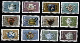 FRANCE AUTOADHESIFS OBLITERES-SERIE COMPLETE DE 12 TIMBRES-N° YVERT 1617 A 1628-ANNEE 2018-CARNET THEIERES - Luchtpost