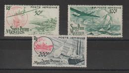 Saint Pierre Et Miquelon 1947 Série Courante PA 18-20 3 Val ** MNH - St.Pierre & Miquelon