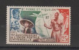 Saint Pierre Et Miquelon 1949 UPU PA 21 ** MNH - Unused Stamps