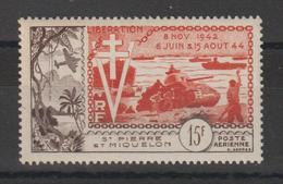 Saint Pierre Et Miquelon 1954 Libération PA 22 ** MNH - Ongebruikt