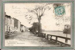 CPA - LAMAGISTERE (82) - Aspect De La Rue Du Bourg Qui Longe La Garonne En 1904 - France