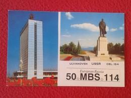 POSTAL POST CARD QSL RADIOAFICIONADOS RADIO AMATEUR ULYANOVSK USSR URSS CCCP RUSSIA RUSIA EUROPEAN SOVIET UNION...VER - Tarjetas QSL