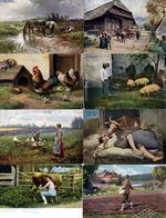 Landwirtschaft Bäuerliches Leben Partie Mit Circa 500 Ansichtskarten 1900 Bis 1930 I-II Paysans - Ausstellungen
