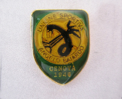 U.S. Angelo Baiardo Calcio Genova Distintivi FootBall Soccer Spilla Italy Pins - Calcio