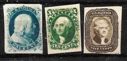 734 - USA - 1851 - FAUX, FORGERIES, FALSES, FALSCHEN, FAKES, FALSOS - Stamps