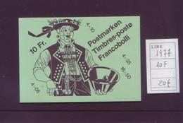 Svizzera 1977 - Tradizioni Popolari, Libretto Da 10 Fr  MHN** Integro - Catalogo 20 Euro - Nuovi