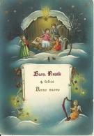"""Cartolina """"Buon Natale E Felice Anno"""", Gesù Bambino Con Angeli (S17) - Anno Nuovo"""