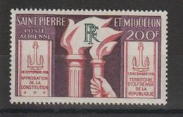 Saint Pierre Et Miquelon 1959 Constitution PA 26 ** MNH - Airmail