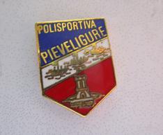 Polisportiva Pieve Ligure Calcio Distintivi Genoa FootBall Pins Soccer Spilla Italy Genova - Calcio