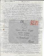 1945 - LETTRE FM De VICHY => HOPITAL MILITAIRE De CASABLANCA (MAROC) - TEXTE (RAVITAILLEMENT VIANDE) - Guerra De 1939-45