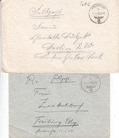 1939 - 1941  - GERMANY - III REICH - FELDPOST - FIELD POST -  CORREO DE CAMPAÑA - 2 COVERS - Deutschland