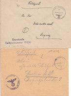 1942 - 1944  - GERMANY - III REICH - FELDPOST - FIELD POST -  CORREO DE CAMPAÑA - 2 COVERS - Deutschland