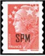 "SPM YT 960 "" Marianne Beaujard SV Rouge, Adhésif "" 2009 Neuf** - St.Pierre & Miquelon"
