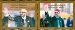 MOROCCO MAROC MOROKKO 2 TIMBRES 20 ANNIVERSAIRE DE L'INTRONISATION DE S.M.LE ROI MOHAMMED VI - Marruecos (1956-...)